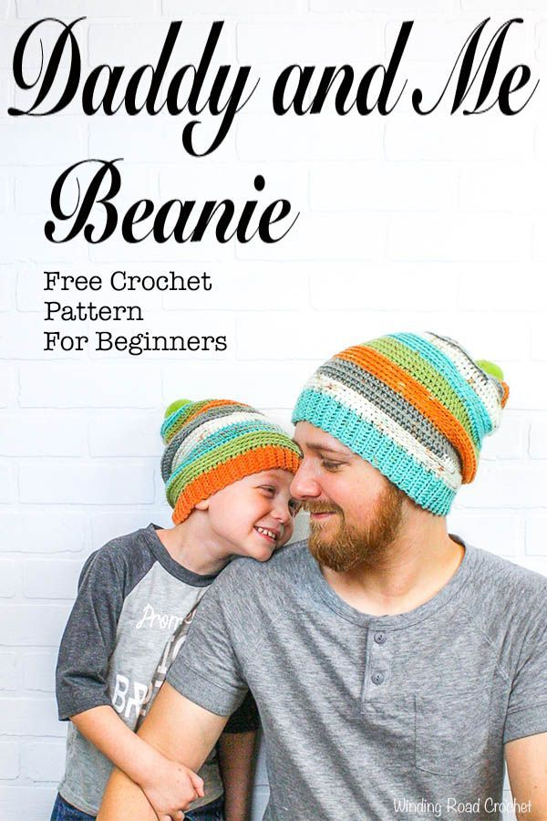 Daddy and Me Slouch Beanie | crochet hats | Pinterest | Gorros ...