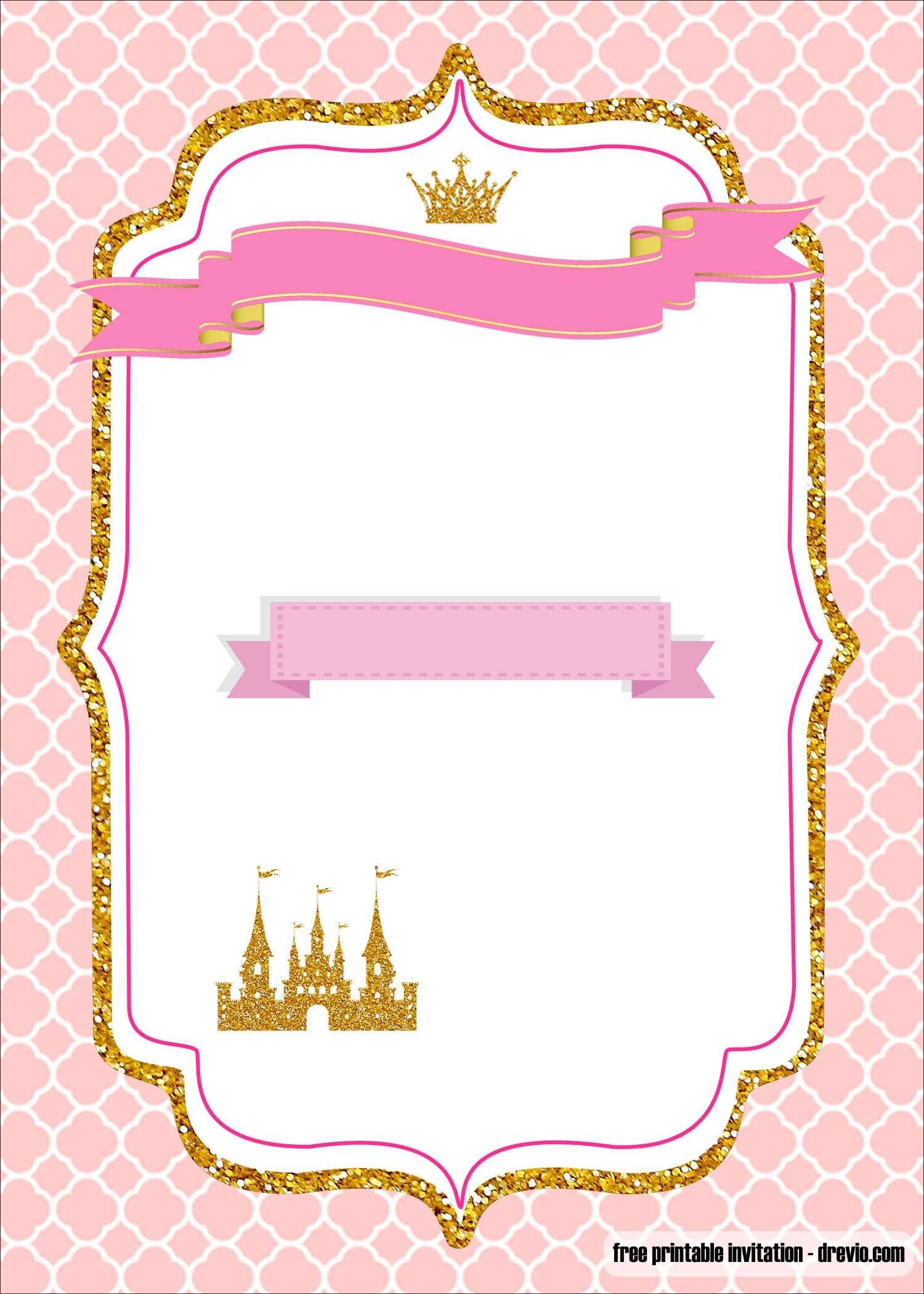 Free Printable Royal Princess Party Invitation