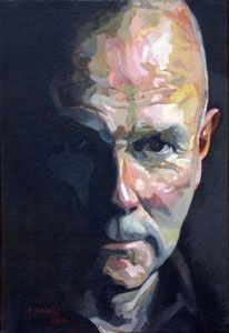 Patrice Lannoy, realistic painting, figurative, self-portrait, paintings on canvas
