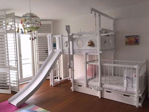 Etagenbett Kiefer Oder Buche : Relita einzel etagenbett michelle« mit runden bettpfosten buche