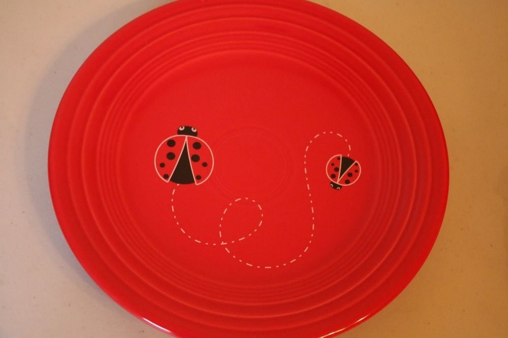 Fiesta® Dinnerware Ladybug Scarlet 9  Luncheon Plate made by Homer Laughlin China Company | & Fiesta® Dinnerware Ladybug Scarlet 9
