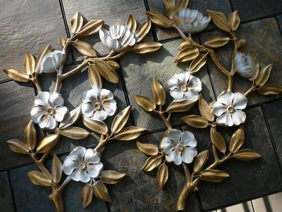 Syroco Flowers/ Wall Hanging/ 19601970s/ Made in by Happiness2day, $36.99