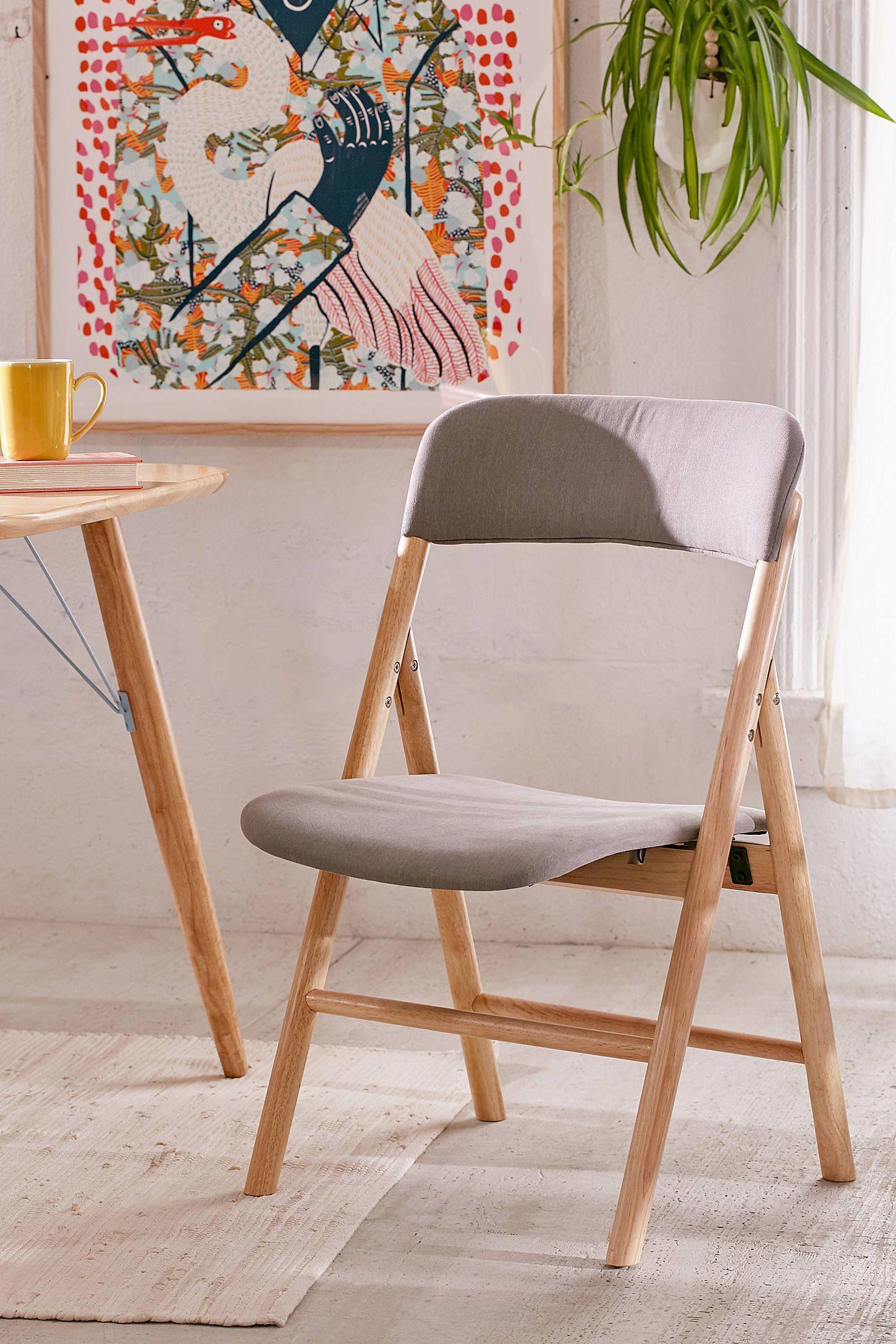 Mikke Upholstered Folding Chair