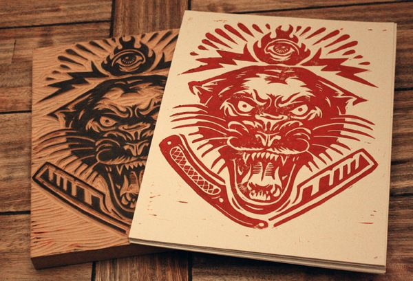Animal Block Prints by Derrick Castle, via Behance