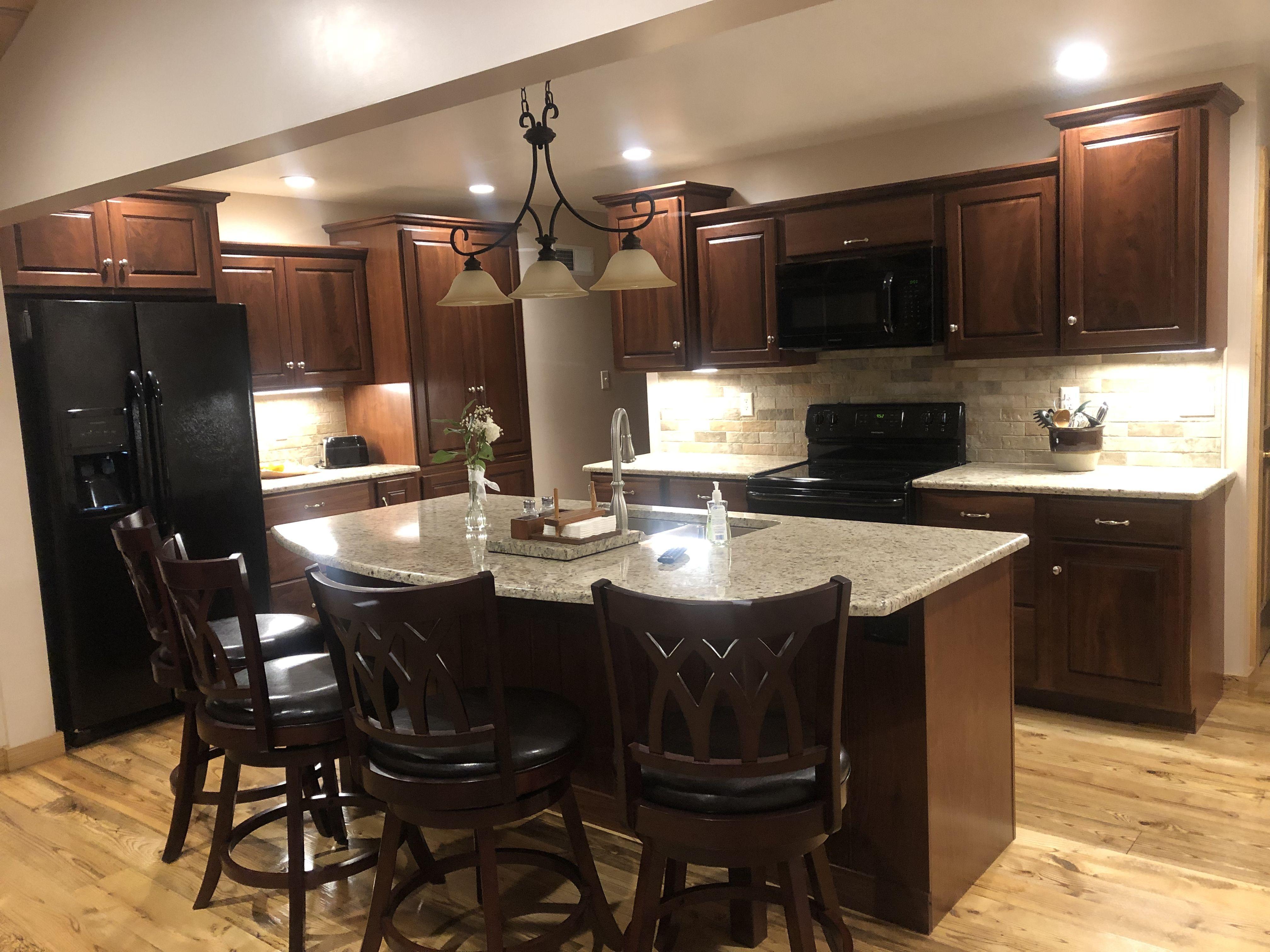 Walnut cabinets Ash hardwood floors (With images ...