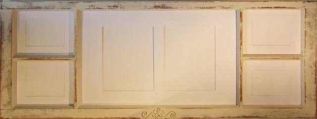 Wood Deco - Window Photo Frame 1 - 4 6x4 horizontal cutout and (2 ...