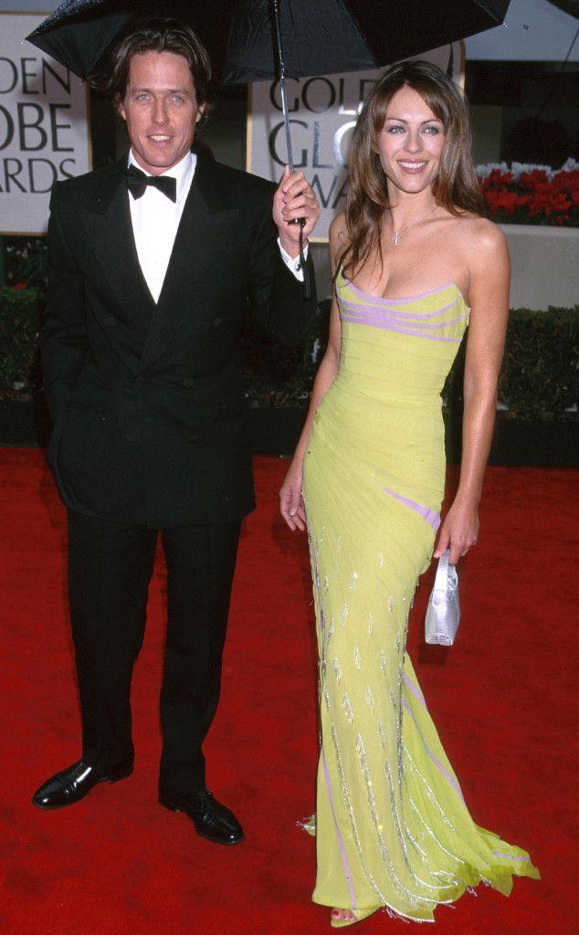 39 Photos Of Celebs In Early 2000s Golden Globes Fashion In 2020 Hugh Grant Liz Hurley Elizabeth Hurley Hugh Grant Elizabeth Hurley