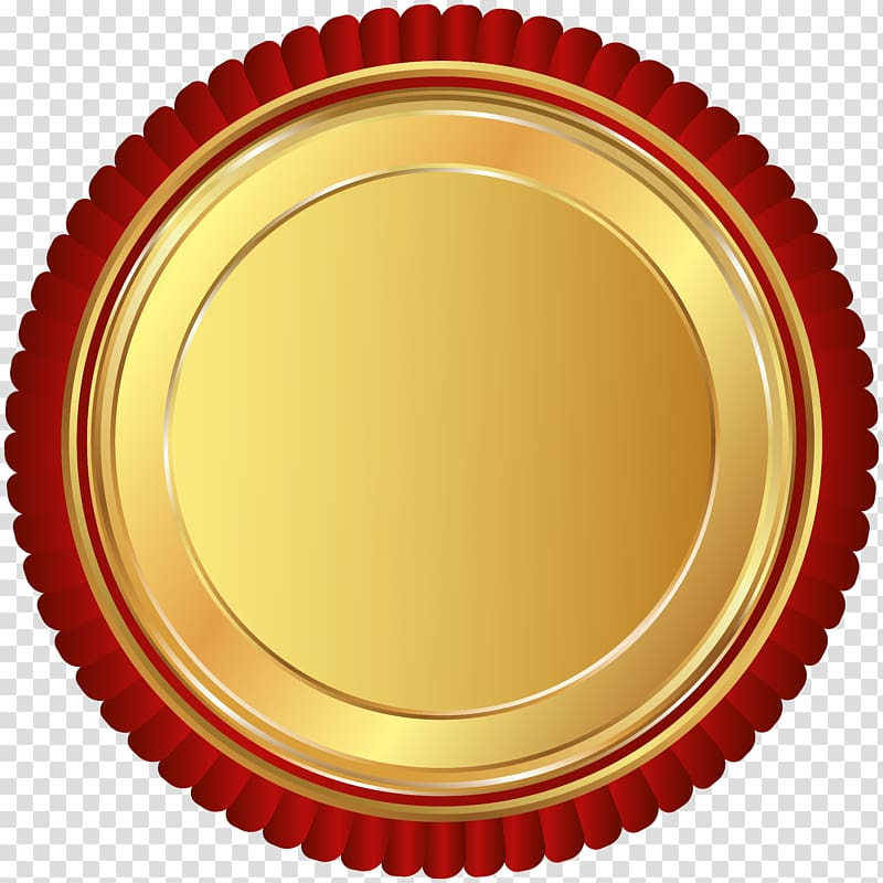 Round Red And Gold Logo Gold Red Seal Badge Transparent Background Png Clipart Round Logo Design Ribbon Logo Ribbon Png