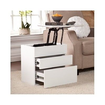 End Table Lift Top Tv Tray Laptop Computer Dorm Living Room Storage