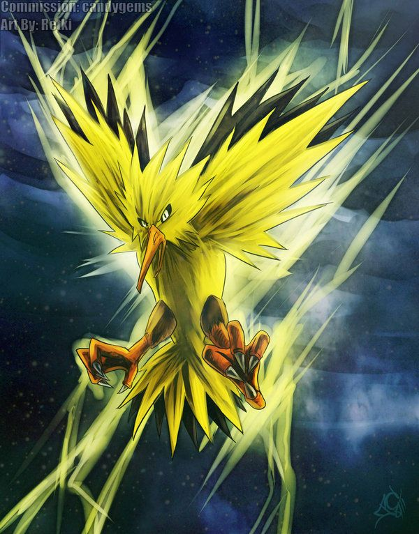 zapdos electric flying thunderbolt drill peck thunder wave protect