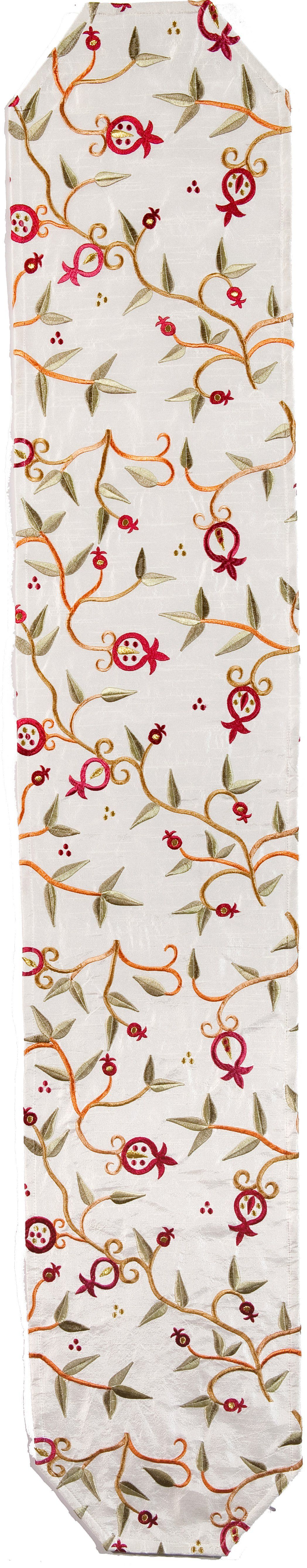Runner embroidery with pomegranates in colors in products