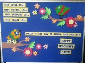 Simple Board Decoration For Teachers Day Valoblogi Com