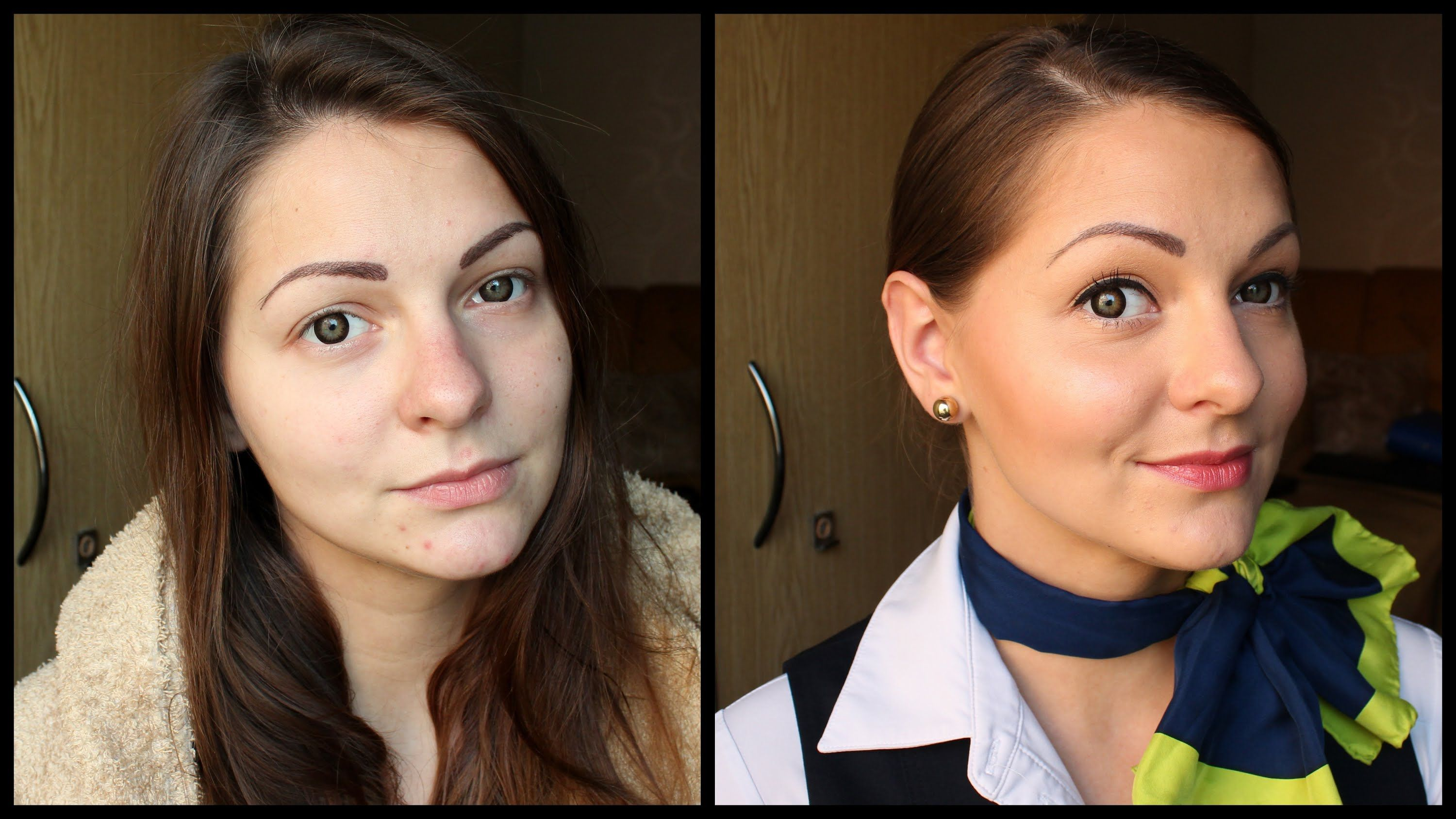 get ready with me   natural flight attendant makeup + hair