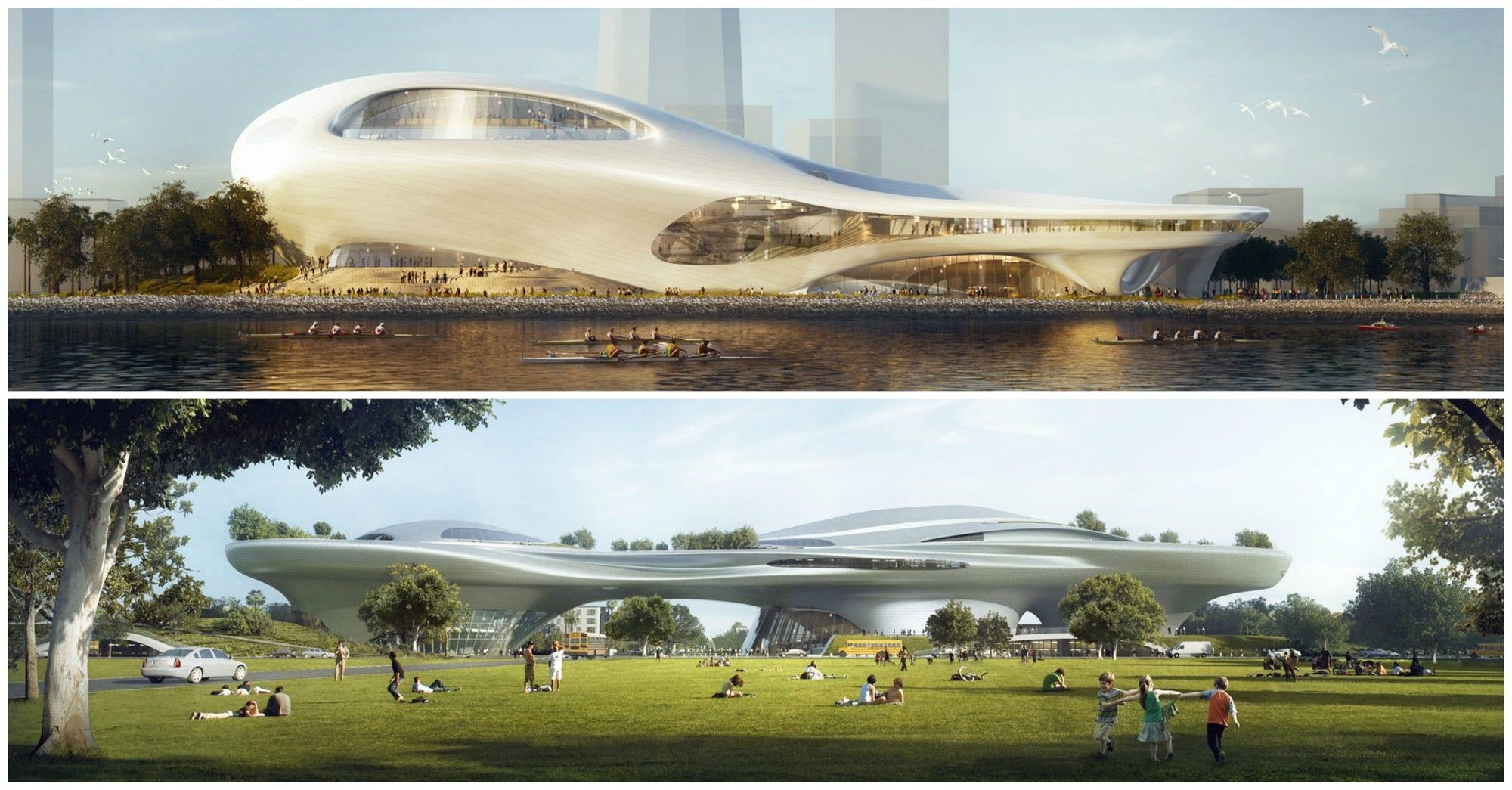 MAD Unveils Dual Lucas Museum Proposals for Los Angeles and San Francisco | ArchDaily