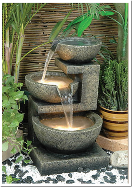 Lovely Chic Outdoor Water Features