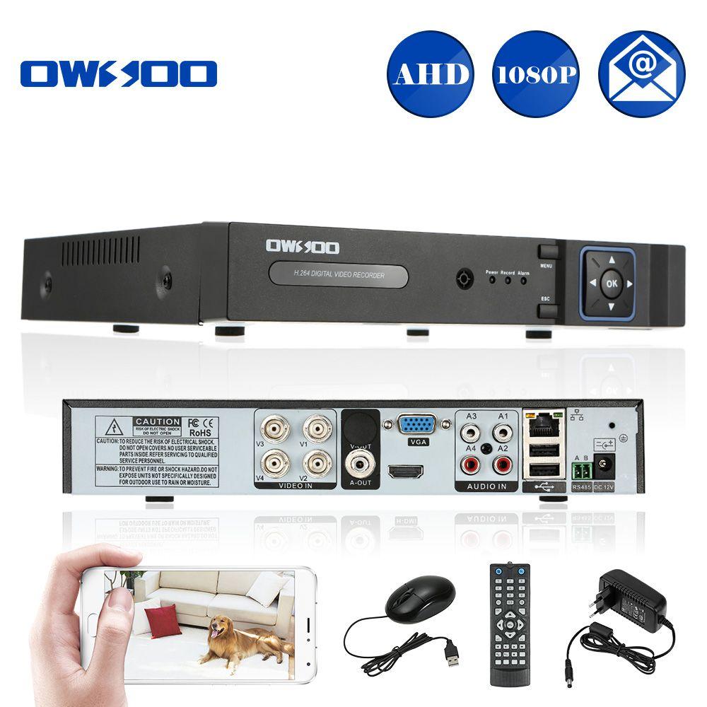 OWSOO 4CH AHD Dvr Surveillance Video Recorder H 264 P2P