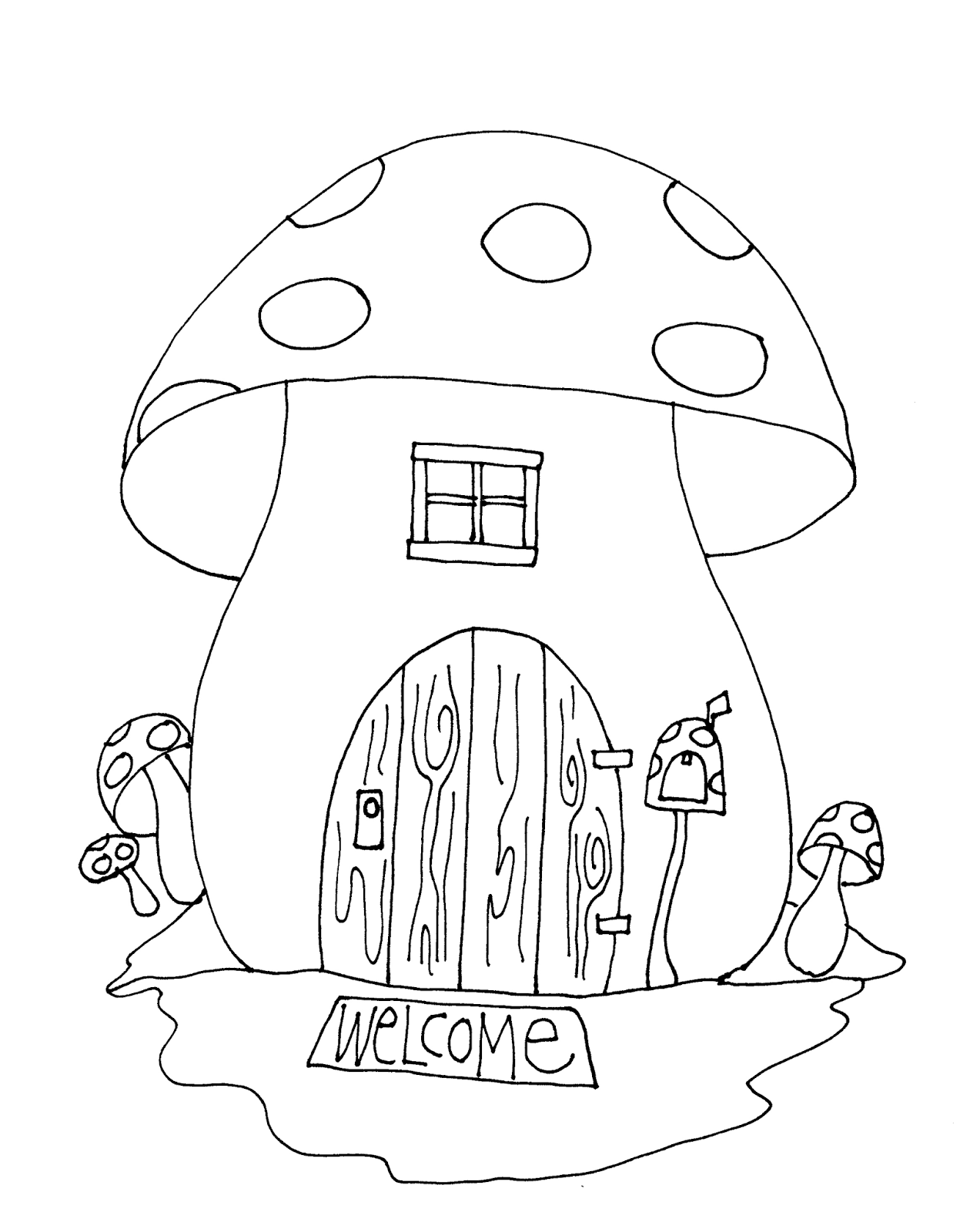 Free dearie dolls digi stamps mushroom house house colouring pages easy coloring pages