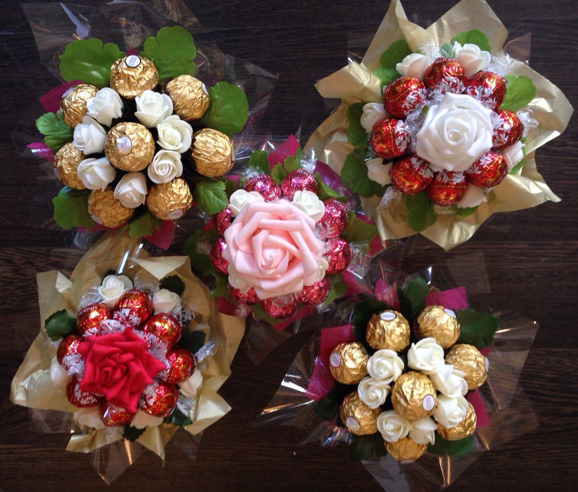Mini ferrero rocher lindor bouquets fererro rocher flower mini ferrero rocher lindor bouquets diy bouquet candy bouquet flower bouquets ferrero izmirmasajfo