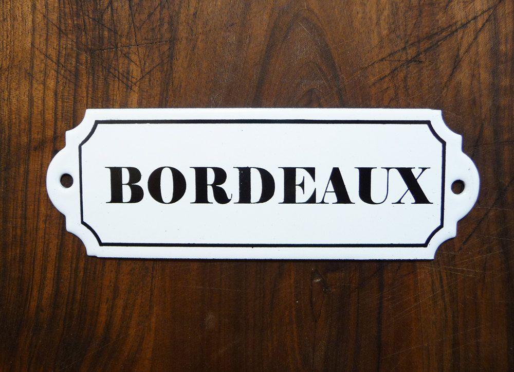plaque maill e bordeaux french vintage plaque de cave vin plaque ancienne identification. Black Bedroom Furniture Sets. Home Design Ideas
