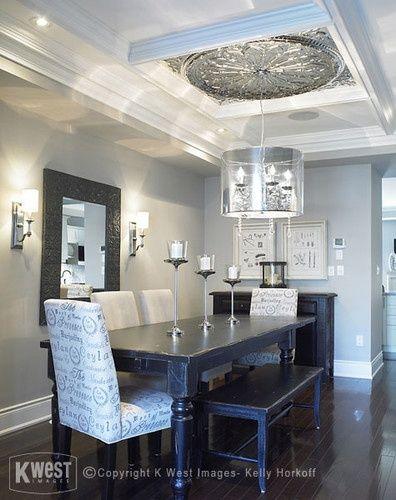 Dining Room Dark Hardwood Floor Design Pictures Remodel Decor