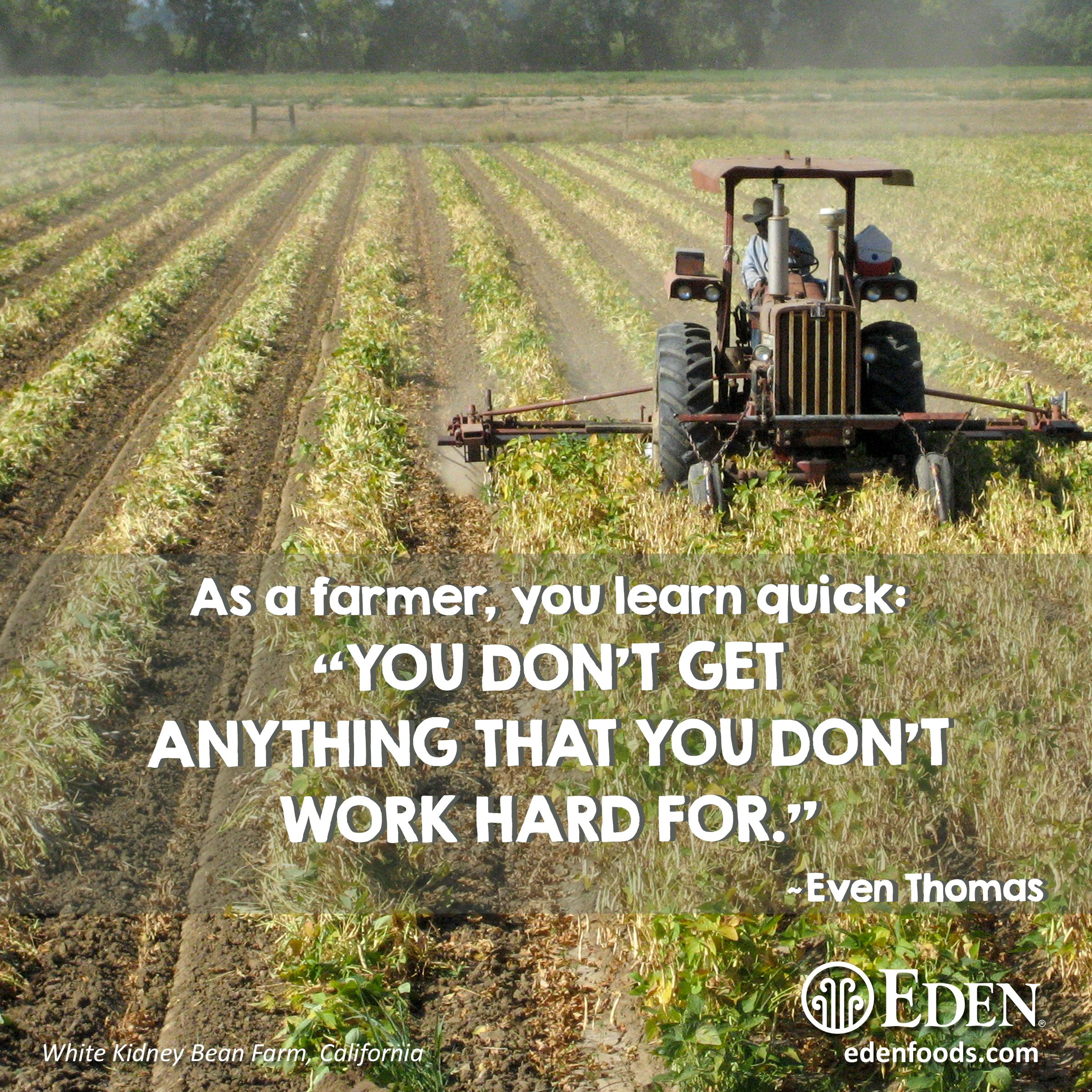 As A Farmer You Learn Quick You Don T Get Anything That You Don T Work Hard For Even Thomas Inspiration Even Motivational Pictures Work Hard Motivation