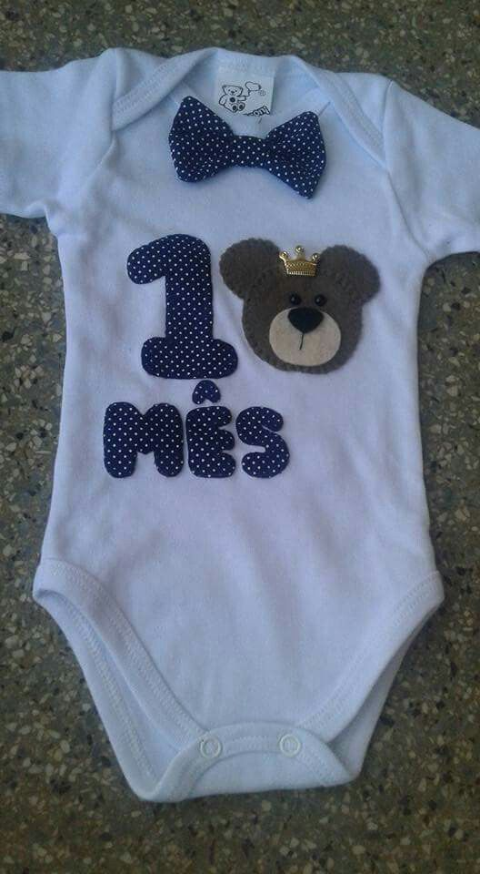 589f5e355 BODY mesversario - Tema Ursinho Novidades Para Bebe, Enxoval De Bebe  Menina, Roupas De