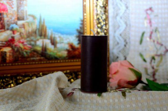 Brown Pillar Candle 24'' unscented pillar by dermusensohn2000, $4.29