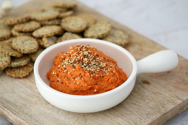 Thermomix Roasted Capsicum & Sun-Dried Tomato Dip - ThermoBliss