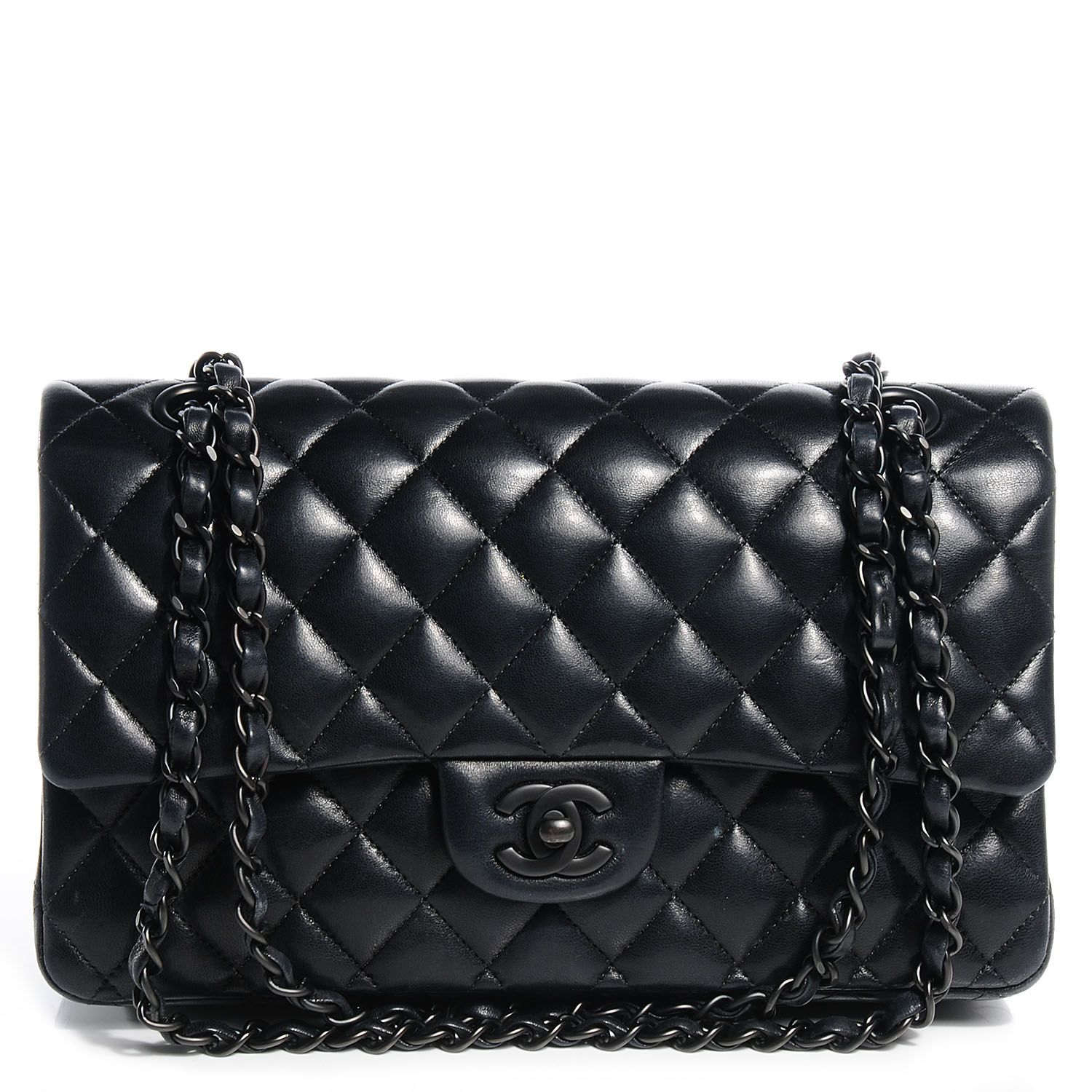 0b480198d2e8 Fashionphile - CHANEL Lambskin Quilted Medium Double Flap So Black. Find  this Pin and ...