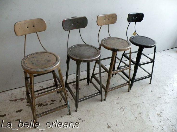 Indusrtial bar stools metal stool vintage industrial stools