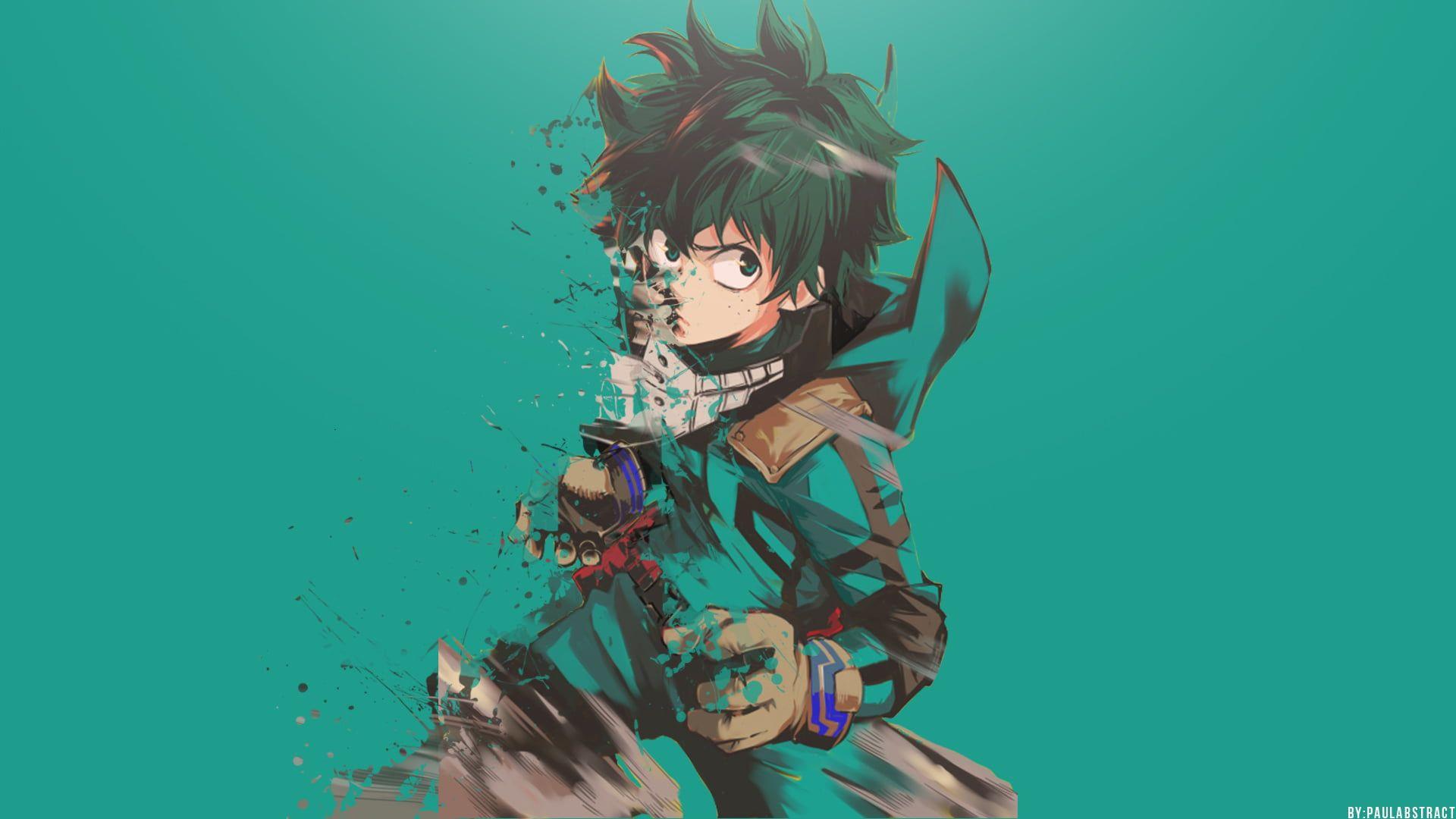 Izuku Midoriya Illustration Boku No Hero Academia Anime Midoriya Izuku Green Hair Digital Art Artwork 1080p Wallpaper Hero Wallpaper Anime Anime Wallpaper
