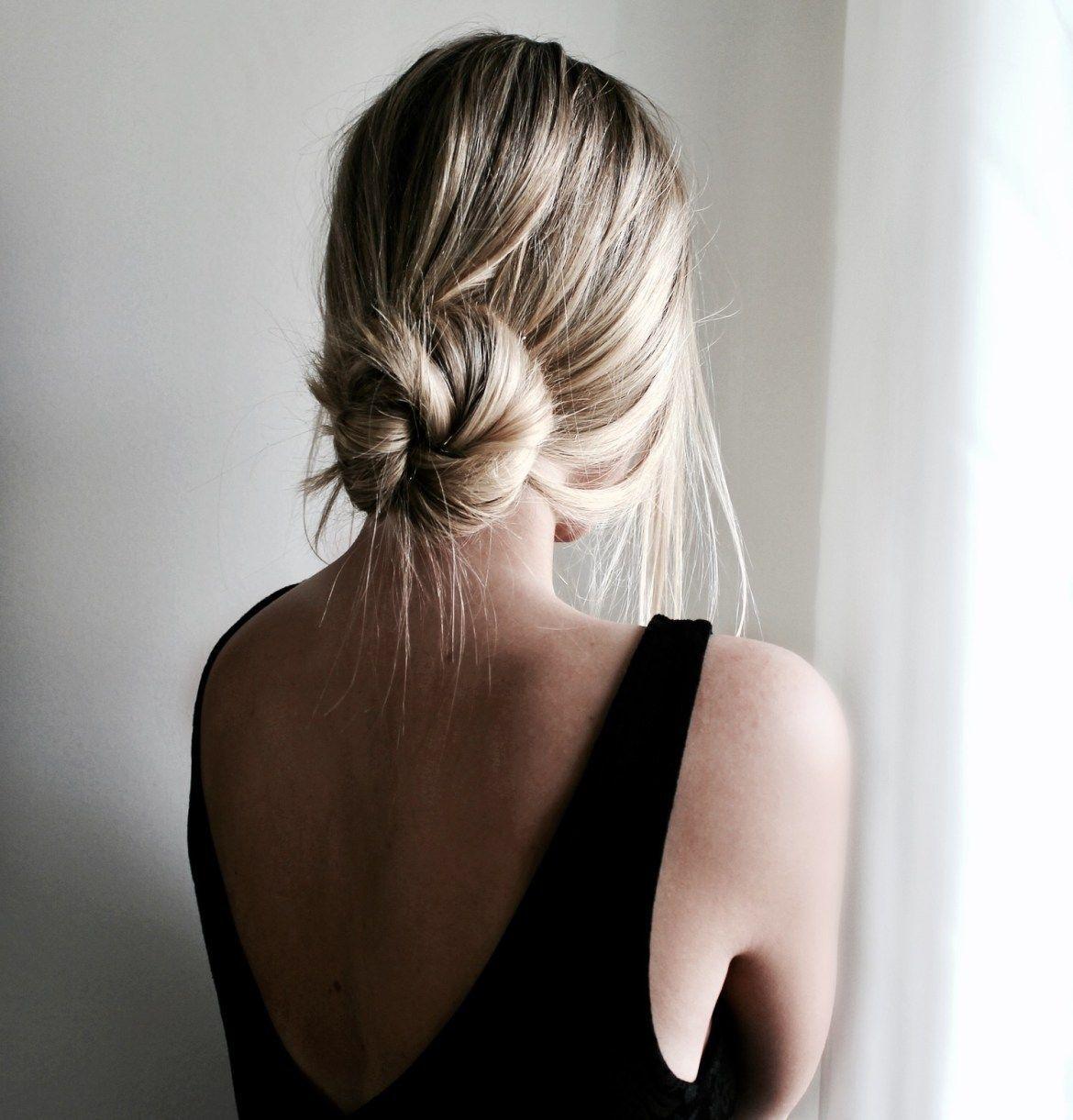 Sundays In A Messy Bun In 2020 Easy Bun Hairstyles Medium Hair Styles Low Bun Hairstyles