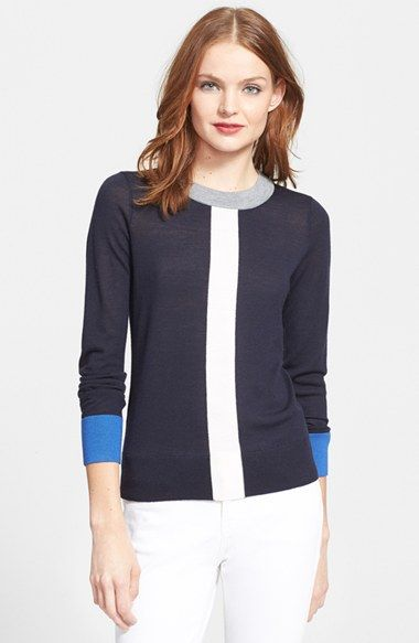kate spade new york graphic merino wool sweater available at #Nordstrom