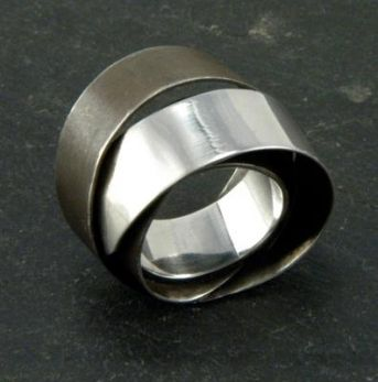 Ribbons Ring-different finishes, Mia Hebib. objectfetish.com
