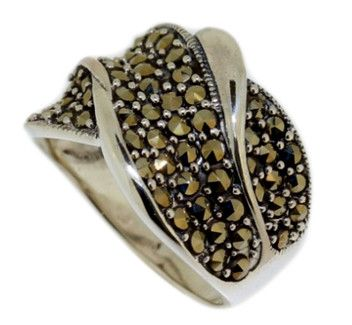 Waves Of Marcasite 925 Sterling Silver Marcasite Ring