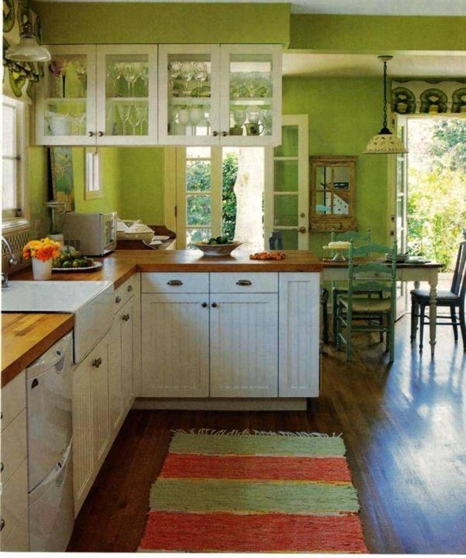 Image result for green kitchen butcher block   Green ...
