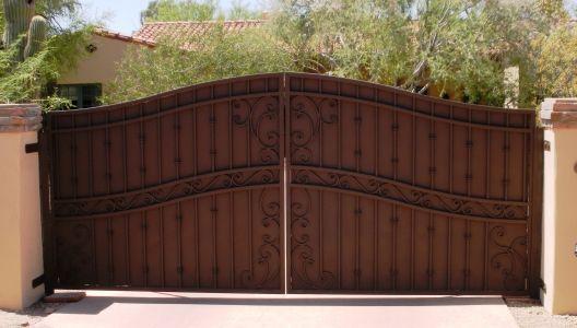 Arched Decorative Driveway Gate Secure Private