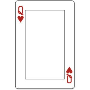 playing card template Queen - Google Search | Colors Changing ...