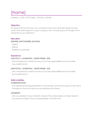 Sample Resumes In Word Resume Violet  Resumes  Pinterest  Sample Resume