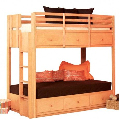 Appealing Modern Brown Laminated Wooden Bunk Bed Design Furniture With Brown Laminated Wooden Bed Stair A Bunk Beds With Stairs Bunk Bed Designs Twin Bunk Beds