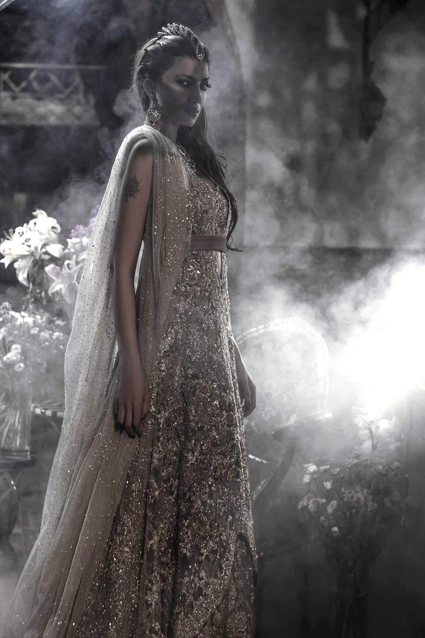 Short western style wedding dresses  Wild Romance  Élan Bridal Couture  Saris Sarees and Lenghas