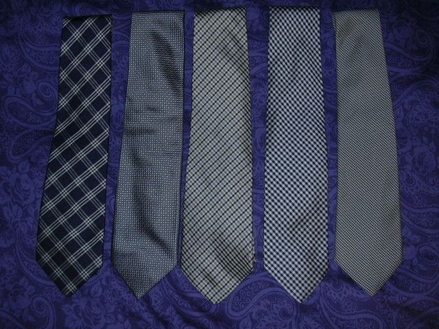 Some Formal Ties L To R Navy With Silver Plaid Macclesfield Shepherd S