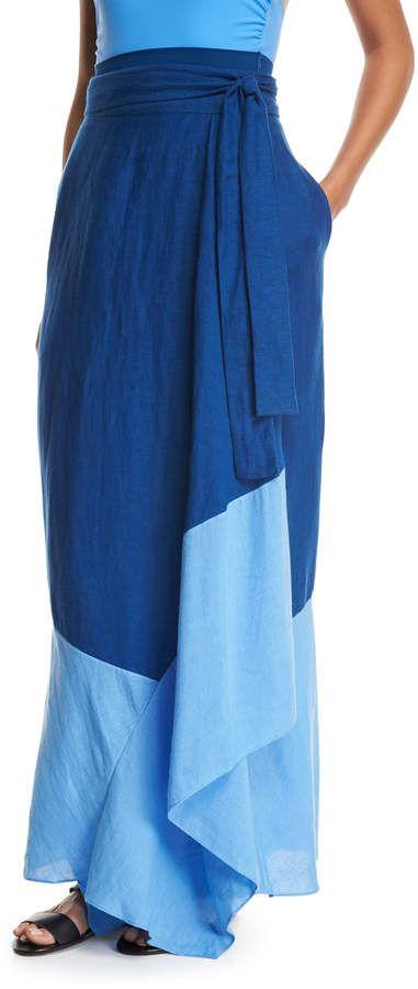f56af975670e3 Diane von Furstenberg Draped Wrap Beach Skirt | Products | Pinterest