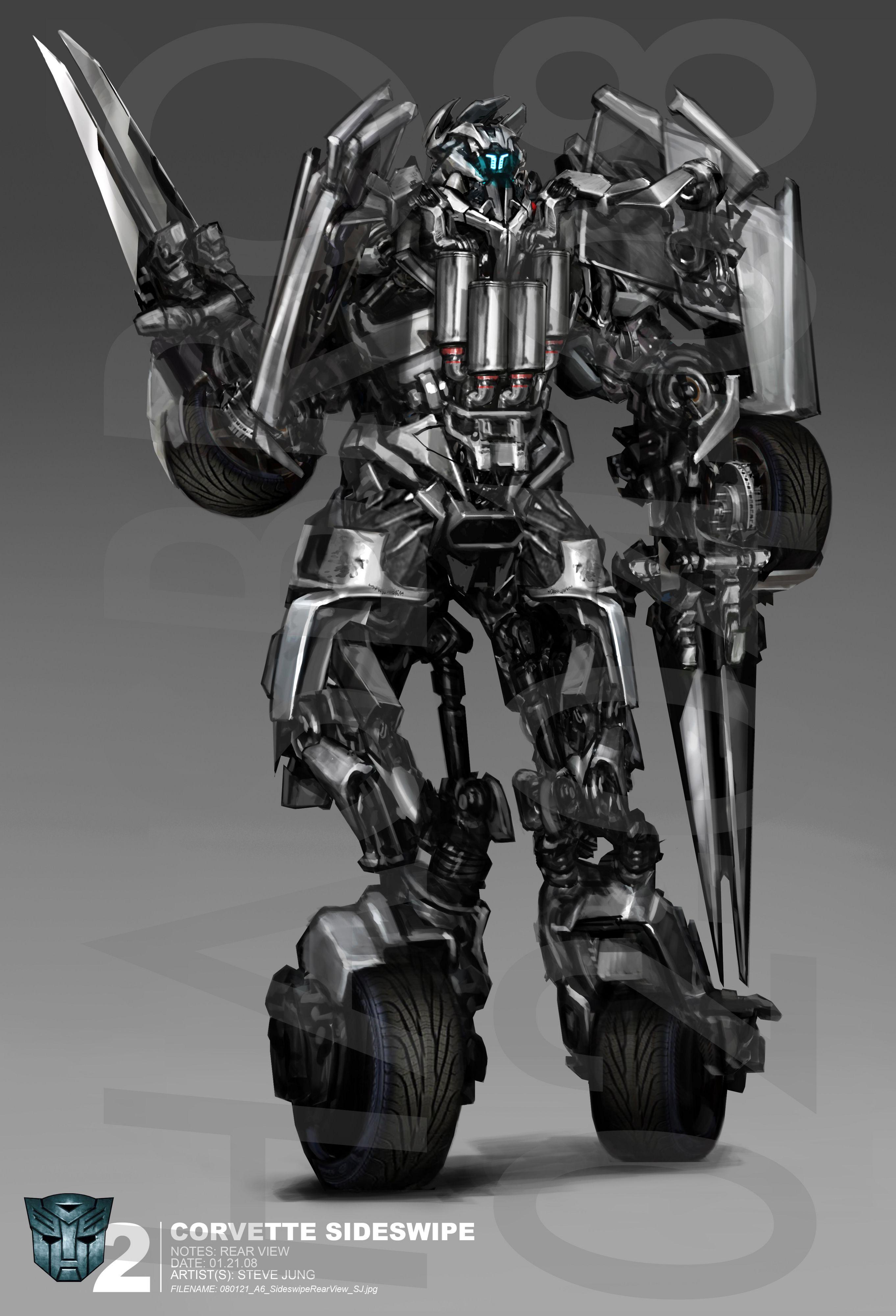 parte posterior de sideswipe autobots transformers