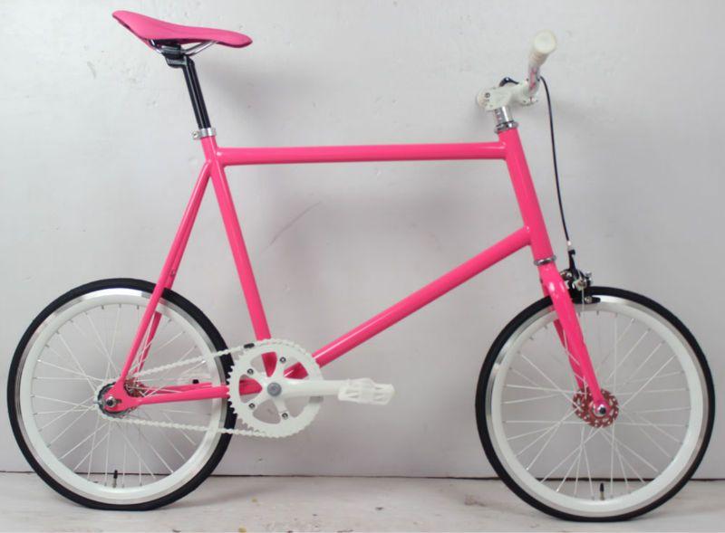 Girls 20 Inch Pink Mini Fixie Bike With Images Fixed Gear Bike