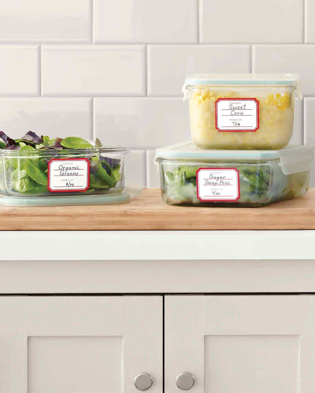Kitchen Labels Martha Stewart Living Empty Your Fridge And