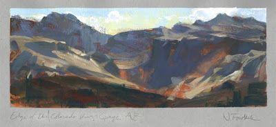 Land Sketch: . . At the Colorado River Gorge, Arizona. .