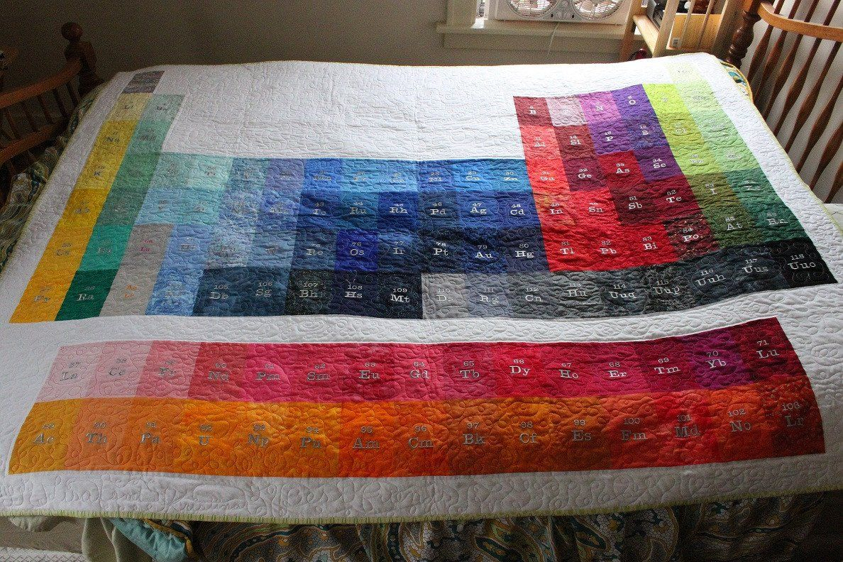 Periodic table of elements quilt fabric quilts pinterest periodic table of elements quilt urtaz Gallery