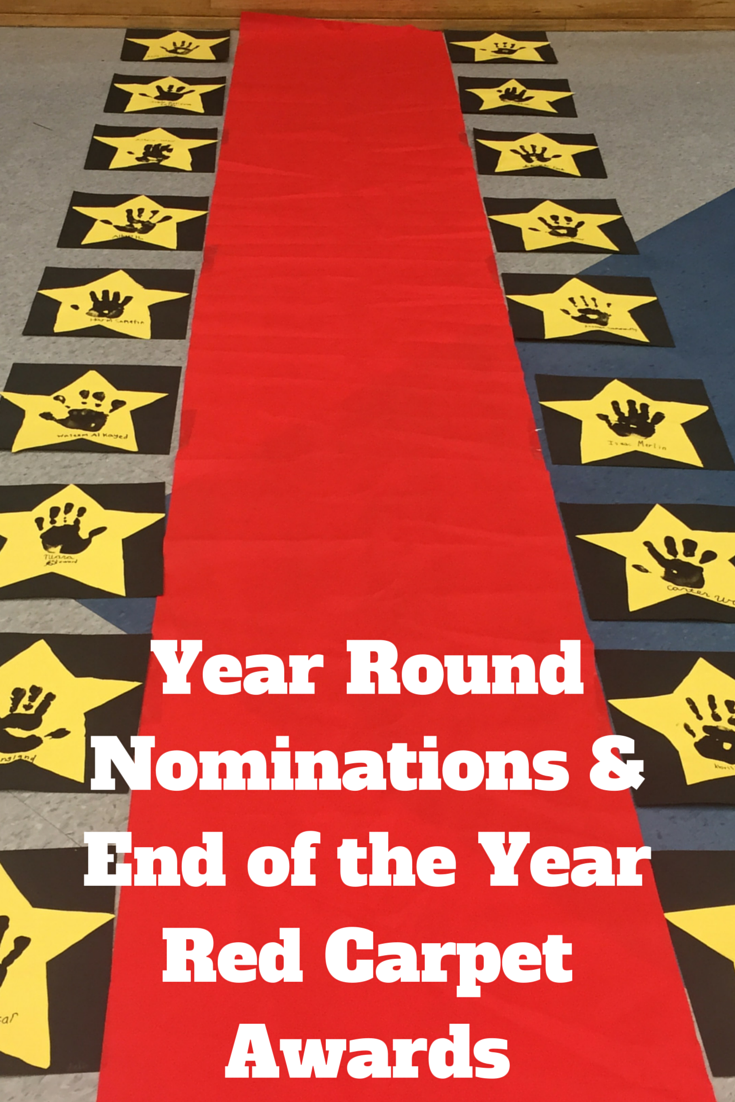 Classroom Entrance Ideas ~ Year round nominations end of the red carpet awards