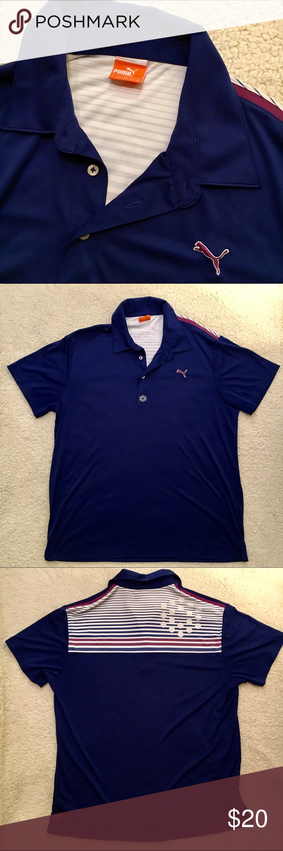 Puma Golf Sportlifestyle Polo Shirt Puma Golf Sportlifestyle mens dry-cell polo shirt. Used but great condition. Size large. 🏌️ Puma Shirts Polos